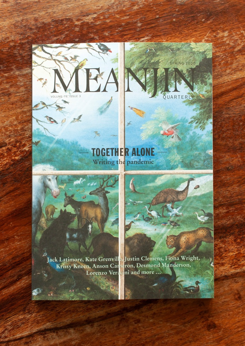 Front cover showing animals through a window pane.